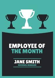 Emploee Of The Month Personalize A Large Selection Of Employee Of The Month