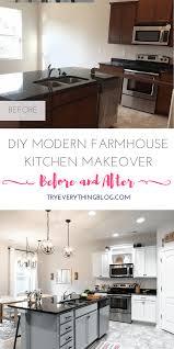 diy modern lighting. DIY Modern Farmhouse Kitchen Makeover At TryEverythingBlog.com - White Cabinets | Subway Tile Diy Lighting