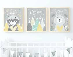 yellow and grey nursery yellow and grey wall art yellow grey nursery wall art yellow nursery decor woodland nursery woodland animals on yellow and grey wall art nursery with yellow nursery etsy