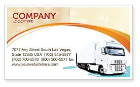 Truck Tractor Business Card Template Layout Download