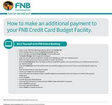 If your score is low, make your of your credit report to check what you are doing wrong. Paying Your Fnb Credit Card Account Is As Easy As Setting Up A Monthly Intelligent Debit Order Pdf Free Download
