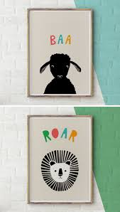 modern nursery art prints to dress up your child's walls