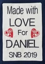 Class Of 2019 Embroidery Design Fusible Quilt Label Bernina Creative Studio Embroidery Class