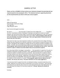 43 Effective Appeal Letters Financial Aid Insurance Academic