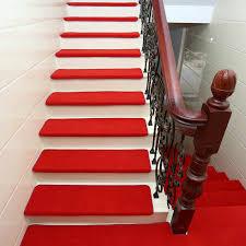 <b>15pcs</b> Adhesive Carpet <b>Stair Treads</b> Mat Non slip <b>Step Rug</b> Cover ...