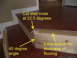 installing laminate flooring on angled stairs the angle of these stairs are 45 degrees so