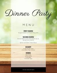 Party Menu Template 009 Dinner Party Menu Templates Template Ideas Afternoon