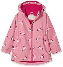 Majestic Jacket Size Chart Hatley Kids Womens Majestic Unicorns Microfiber Rain Jacket Toddler Little Kids Big Kids