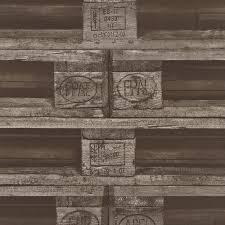 rasch pallet crate factory wallpaper faux effect mural textured realistic 524109