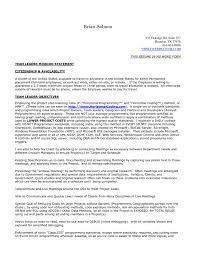 Resume Of Team Leader Cover Letter Team Lead Resume Cover Letter Example Team Leader