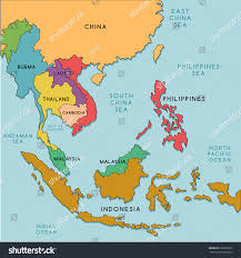 south east asia map vector illustration stock  in of se
