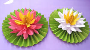 How To Make Big Lotus Flower From Paper Diy How To Make Most Beautiful Lotus Water Lily With Paper