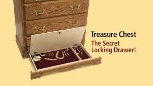 Hidden Drawer Lock Treasure Chest With Secret Locking Drawer By Furniture Traditions