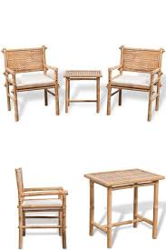 outdoor bamboo bistro set patio hotel