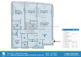 Master Bedroom Suite Floor Plans Floor Plan Of Sky Tower Al Reem Island