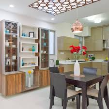 Dining Crockery Designs Make A Statement With This Patterned Ceiling Design And
