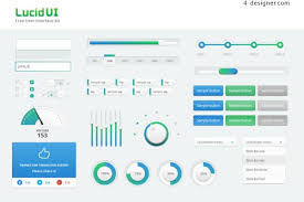 4 Designer Clean Beautiful Gradient From Blue To Green Ui