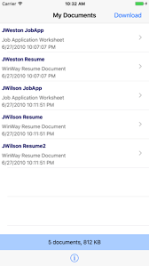 Winway Resume Free Magnificent ResumeShare On The App Store
