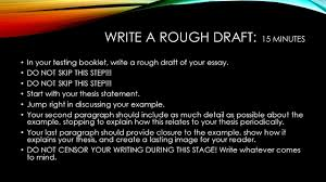 the staar expository essay ppt  6 write a rough draft