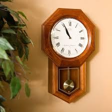seiko dark brown oak schoolhouse wall clock 13 inches wide com