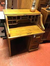 oak roll top desk antique 3 drawer for craigslist