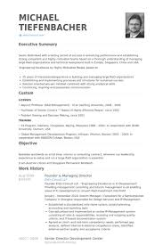 Founder & Managing Director Resume samples