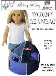 make a cute bean bag chair for your american girl doll