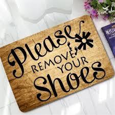 Doormat please remove shoes doormat images : Funny Please Remove Your Shoes Doormat Carpet Rubber Non Slip ...