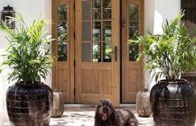 wood front door feng shui