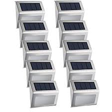 Easternstar Upgraded Solar Powered 4 LED Lights,<b>Outdoor</b>
