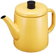 amazoncom noda horo enamel pottle (yellow) teakettles kitchen