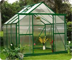 6mm uv twin wall small polycarbonate panels greenhouse aluminum frame 8x 6 re0806