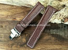 china genuine leather watch strap w deployment buckle sharkskin china leather watch strap deployment buckle