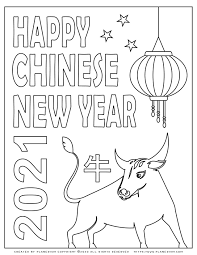 It will be the moment when the white metal bull will come into its own and take reins the symbol of 2021, the ox, is a very patient, hardworking and calm animal. Happy Chinese New Year Ox 2021 Free Coloring Page Planerium In 2021 New Year Coloring Pages Happy Chinese New Year New Year Symbols