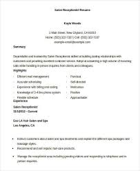 Spa Receptionist Resume New 4848 Another Word For Receptionist On Resume Scbots
