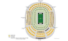 Lambeau Seating Chart Detailed Best Picture Of Chart