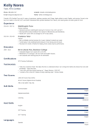 Tutor Sample Resume Tutor Resume Sample And Complete Guide 20 Examples