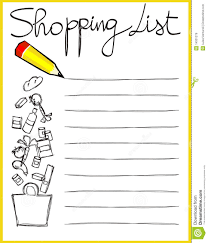 Shopping List Shopping List Clipart Black And White World Of Example 6