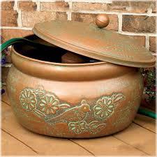 garden hose storage pot. Hose Holders, CobraCo® Embossed Bird Holder And Lid Set, HHEBR Garden Storage Pot