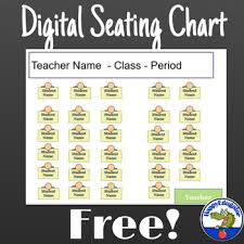 Free Digital Seating Chart Free Seating Chart Template By Happyedugator Teachers Pay