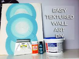textured canvas art using joint compound you