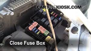 blown fuse check mitsubishi eclipse mitsubishi 6 replace cover secure the cover and test component