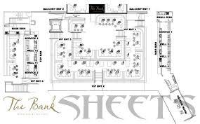 The Bank Nightclub Floor Plan Sheets Vip
