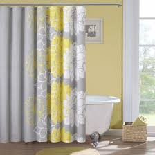 Lemon And Grey Bedroom Yellow And Grey Shower Curtain