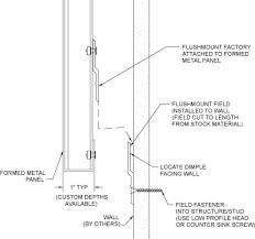flush mount section detail