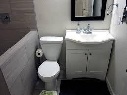 basement bathroom designs. Simple Basement Bathroom Ideas With Wood Single Vanity Cabinet Also White Toilet Designs