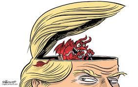 Image result for evil trump clipart