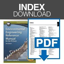 Environmental Engineering Reference Manual Index | PPI | PE Exam