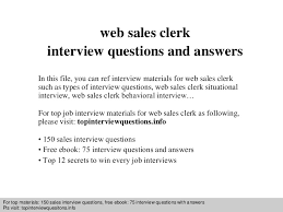 web sales clerk interview questions and answers sales clerk jobs