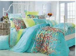 promotion quality cotton queen boho floret bedding set for intended king comforter idea 1